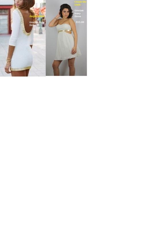 Grecian Ivory Dress